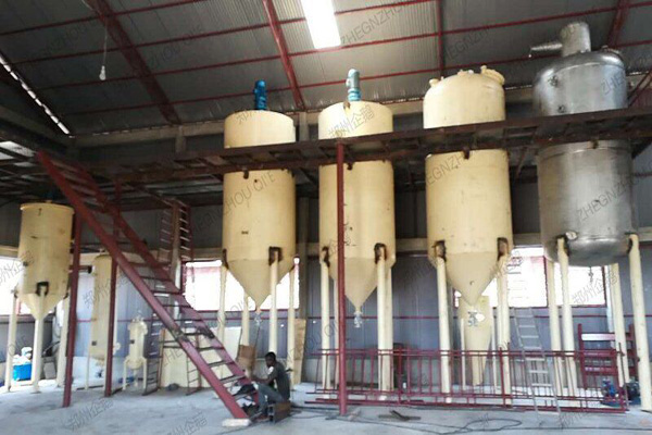 factory supply ingredients refined castor oil machinery